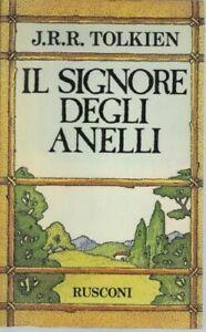 J.R.R. TOLKIEN - IL SIGNORE DEGLI ANELLI , Ed. 1984 Trilogia Rusconi con MAPPA