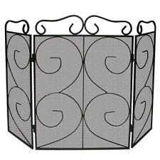 Feu écran noir 3 Panneau Housse Protection Cheminée bouclier nouveau par Home DISCOUNT
