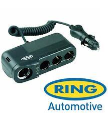 Anillo 8amp 12v Dc cuádruple Multi Socket & batería Analizador & Encendedor rms4