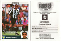 "RARE !! ZINEDINE ZIDANE Sticker ""MEJORES EQUIPOS DE EUROPA 1998"" PANINI"