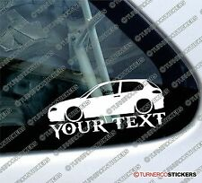 Custom Text / Name Low Alfa Romeo 147 (2000-2004) lowered car Sticker / Decal