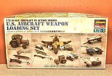 1/72 HASEGAWA U.S. AIRCRAFT WEAPON LOADING SET MODEL KIT #X72:5