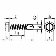 Dresselhaus/ zincate tramite galvanizzazione 100/pezzi M 8/x 20/mm /Dadi di raccordo//distanziatori per dadi esagonale