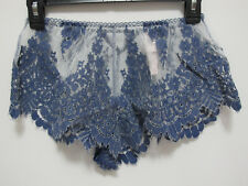 NWT Victoria's Secret Dream Angel Blue Floral Lace Mesh Sleep Short/Shortie (S)