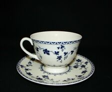 Royal Doulton Yorktown Blue and White Translucent Porcelain Cup & Saucer England
