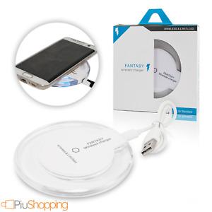 CARICATORE WIRELESS CARICABATTERIE QI BASE PER IPHONE X XS 11 SAMSUNG S9 S10 S20
