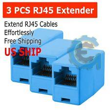 3x Rj45 Joiner Inline Coupler Cat6 Cat5 Extender Ethernet wire Network Connector