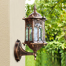 Retro Exterior Wall Light Fixture Aluminum Lantern Outdoor Garden Lamp Sconce Us