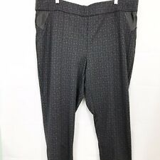 Michel Studio Women's Pants 22 Black Skinny Leg Taylor Style Faux Leather Trim