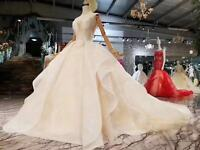 Luxury Sparkling Wedding Dresses UK 06 08 10 12 14 16 18 20 22 Custom Made