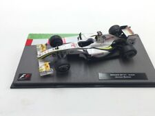 brawn gp 01-2009 jenson button 1/43 collection formule 1 neuf socle plexi