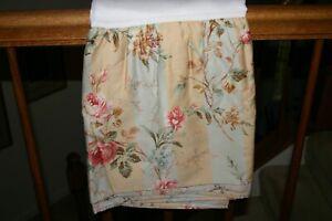 Ralph Lauren HIGHFIELDS Floral Stripe QUEEN Ruffled BEDSKIRT 370 TC