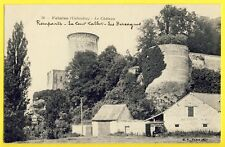 cpa Castle FALAISE (Calvados) Le CHÂTEAU Remparts Tour Talbot Les Bercagnes