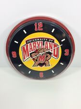 """University of Maryland Terrapins Collegiate Used 12"""" Wall Clock Made In USA"""