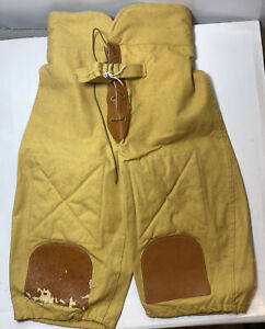Antique Canvas & Leather Football Pants Vintage