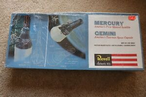 Revell Mercury Satellite and Gemini Space Capsule 1:48 Model 1964