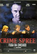 CRIME SPREE Fuga da chicago con Gerard Depardieu - bollino noleggio - DVD NUOVO