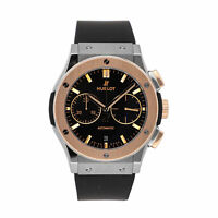 Hublot Classic Fusion Chrono Auto Titanium Gold Mens Watch Date 521.NO.1181.RX