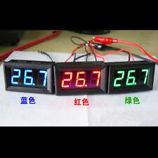 Red 12V -50°C ~ + 110°C Digital Thermometer Temperature Panel Meter Gauge
