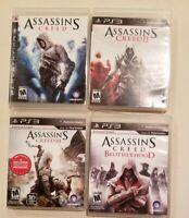 Lot of 4 Games Assassin's Creed I, II, III, Brotherhood Ps3 Playstation Complete