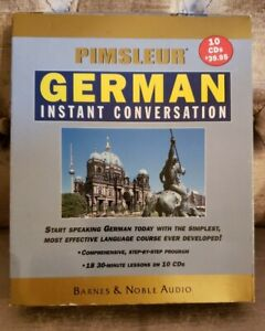 Pimsleur German Instant Conversation Box Set 18 30-Minute Lessons on 10 CD's