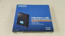 Linksys Cable Modem w USB & Ethernet Connections CM100
