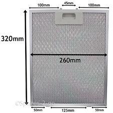 Metal Mesh filter For COOKE & LEWIS Cooker Hood Extractor Vent Fan 320 x 260mm