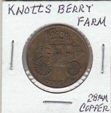 (P) Token - Buena Park, CA - Knott's Berry Farm - 28 MM Copper