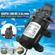 24V 130PSI 5.5L/Min High Pressure Diaphragm Water Pump For RV Caravan Boat 80W