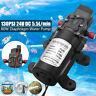 24V 130PSI 5.5L/Min High Pressure Diaphragm Water Pump For RV Caravan Boat 80W