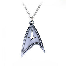 Star Trek Sliver Bronze Stainless Metal Chain Cosplay Necklace Accessory FASHION