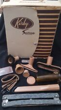 Vkntage Kirby Sanitronic System Vacuum Accessories Kit Attachments brown