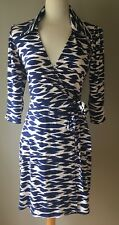 Womens LAUNDRY BY DESIGN Blue And White Wrap Dress   Size XS