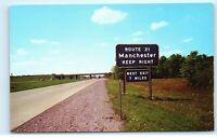 New York State Thruway Manchester Interchange Route 21 Street Sign Postcard B12