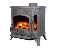Ben Franklin Cast Iron Wood Burning Stove Heater Fireplace