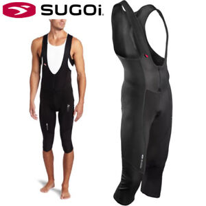 Sugoi RS Zero Thermal 3/4 Bib Shorts Cycling - Black - Mens Size Small
