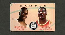 Shaquille O'Neal & Hakeem Olajuwon 1995 Score Board Phone Card Promo Sample