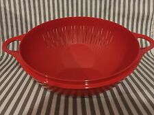 NEW Tupperware Colander / Strainer with Handles Red 4qts