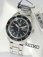 SEIKO 5 Automatic Sports SNZH55K1 Black dial 23 Jewels 100m CAL 7S36 New w box