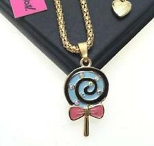 Chain jewelry Betsey Johnson Fashion pendant lollipop rhinestone Enamel necklace