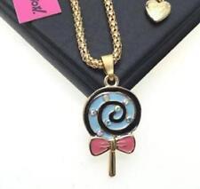 Chain jewelry Betsey Johnson Fashion pendant lollipop rhinestone Enamel necklace