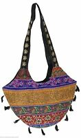 INDIAN HANDMADE BANJARA HAND BAG EMBROIDERED WOMEN MULTICOLOR SHOULDER BAG NEW
