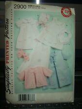 BABY LAYETTE Bonnet Vtg Heirloom Pattern Simplicity 2900 Sz XXS S M L Uncut
