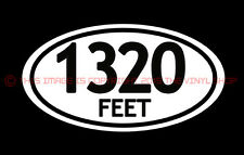 """x1 """"1320 Feet"""" For the Street Outlaw in You. hot rod, rat rod, decals.Badass"""