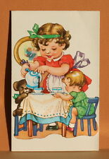 Cute Vintage Children Kids Jewish New Year Greeting Card C1960 Shanah Tova