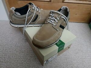 CLARKS BEACHMONT EDGE TAUPE NUBUCK MEN'S SHOES  SIZE 46 UK 11 G BRAND NEW &BOXED