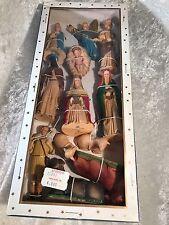 Vintage SSCO Hand Painted Plastic 12 Piece Christmas Nativity Set