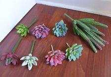 8 Mini Plants Artificial Succulents Immortal Column And Miniature Grass