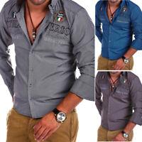 BEHYPE Karo-Hemd Polo Shirt Slim versch. Farben Kariert Schwarz/Weiß/Blau NEU