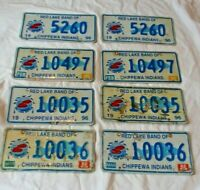Matching Pair Red Lake Band of Chippewa Indian Reservation MN License Plates